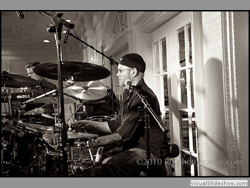 Steve McCann on drums at Opryland Hotel party